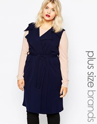 Ax Paris Plus Sleeveless Jacket Navy