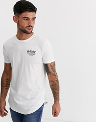 Hollister Washed Back Print Logo T Shirt In White
