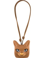 Loewe 'Cat Face' Necklace Brown