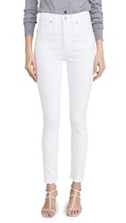 Madewell 10 High Rise Skinny Jeans Pure White