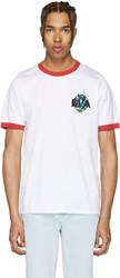 Marques Almeida White Embroidered Loose T Shirt
