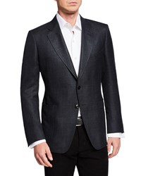 Tom Ford O'connor Textured Wool Linen Jacket Gray