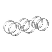 Broste Copenhagen 'Ring' Napkin Ring Set Of 6 Nickel