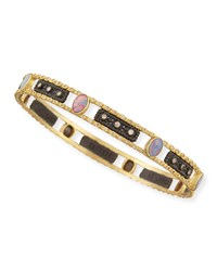 Old World Opal And Diamond Bangle Armenta White
