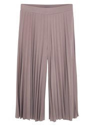 Mango Pleated Capri Trousers Light Pastel Pink