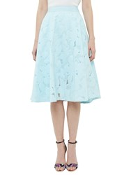 Ted Baker Quinia Burnout Circle Skirt Pale Blue