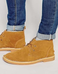Bellfield Chukka Boots In Navy Suede Tan Blue
