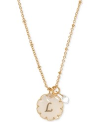 Lonna And Lilly Gold Tone Crystal Initial Pendant Necklace