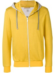 Eleventy Long Sleeve Fitted Hoodie Yellow