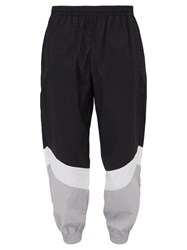 Vetements Mustermann Panelled Cotton Shell Track Pants Black White