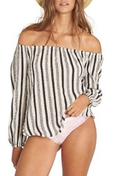 Billabong Women's Mi Amore Print Off The Shoulder Top