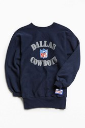 Urban Outfitters Vintage Champion Dallas Cowboys Crew Neck Sweatshirt Navy