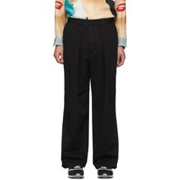 J.W.Anderson Jw Anderson Black Pleated Chino Trousers