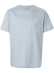 Gieves And Hawkes Chest Pocket T Shirt Blue