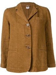 Aspesi Linen Fitted Jacket Brown