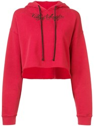 Adaptation Cropped Hoodie Red