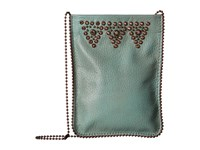 Leather Rock Cp56 Turquoise Cross Body Handbags Blue
