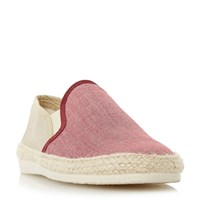 Bertie Fondant Chambray Espadrille Shoes Red