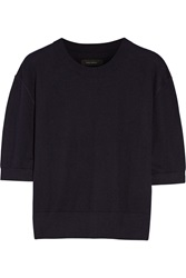 Isabel Marant Oslo Cashmere Silk And Cotton Blend Sweater Blue