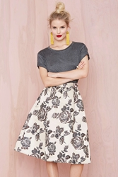 Nasty Gal Heavy Petal Skirt