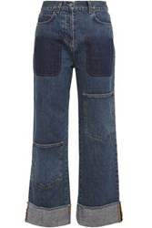 J.W.Anderson Woman Faded High Rise Straight Leg Jeans Mid Denim