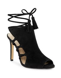 424 Fifth Fran Lace Up Sandals Black