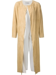 Dusan Leather Coat Nude And Neutrals