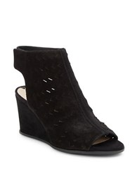 Via Spiga Leatrice Wedge Sandals Black