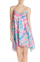 Lilly Pulitzerr Women's Pulitzer 'Clara' Print Silk Trapeze Dress Multi Out To Sea