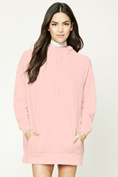Forever 21 Cowl Neck Hoodie Pink