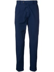 Berwich Cropped Trousers Blue