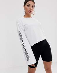 Juicy Couture Tyre Mark Logo Long Sleeved T White