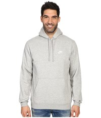 Nike Club Fleece Pullover Hoodie Dark Grey Heather Dark Grey Heather White Men's Fleece Gray