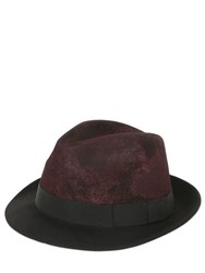 Barbisio Rubberized Wool Felt Trilby Hat