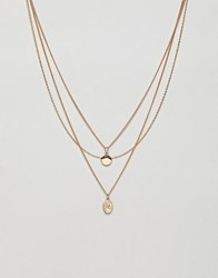 Monki Necklace In Gold