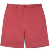 Anderson And Sheppard Cotton Twill Shorts Brick
