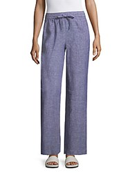Saks Fifth Avenue Wide Leg Linen Drawstring Pants Ink