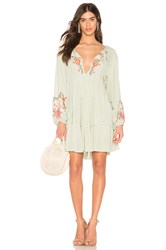 Free People Spell On You Mini Dress Mint