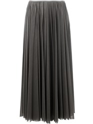 Celine Pleated Long Skirt Grey