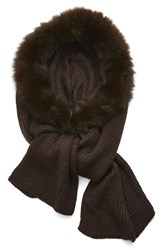 Women's Dena Faux Fur Hood And Scarf