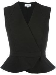 Carven Wrap Cardigan Black