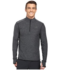 New Balance Space Dye Quarter Zip Black Heather Men's Long Sleeve Pullover