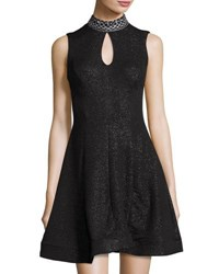 Jax Sleeveless Embellished Neck Dress Black