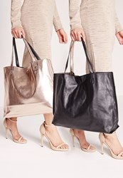 Missguided Reversible Tote Bag Metallic One