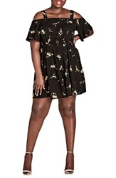 City Chic Plus Size Women's Aerial Frills Dress Aerial Floral