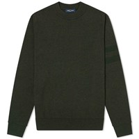 Fred Perry Tipped Sleeve Crew Knit Green