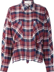 Faith Connexion Oversized Flannel Shirt Red