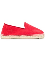 Manebi Flat Espadrilles Red