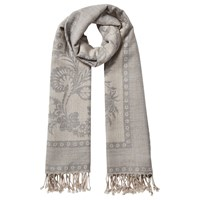 East Wool Jacquard Scarf Grey