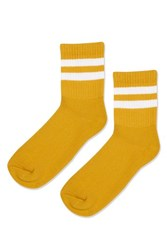 Topshop Sporty Tube Ankle Socks Mustard